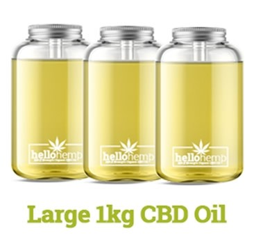 Hello Supplements Full Spectrum CBD Oil 5% Active CBD Up To 65% in 1KG/1,000ml Bottle