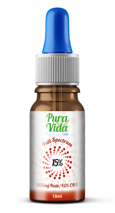 Pura Vida Edible CBD Oil Tincture 15% CBD 10ml 1,500mg 100% Organic