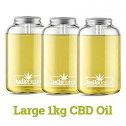 Hello Supplements Full Spectrum CBD Oil 5% Active CBD Up To 65% in 1KG/1,000ml Bottle