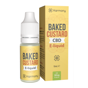 Harmony 100/300/600mg CBD Oil E-Liquid - Baked Custard